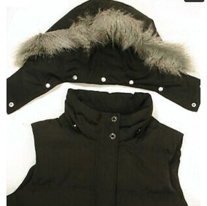 Talbots puffer vest with hood
